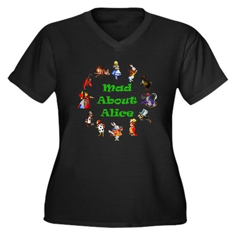 MAD ABOUT ALICE - GREEN Women's Plus Size V-Neck D