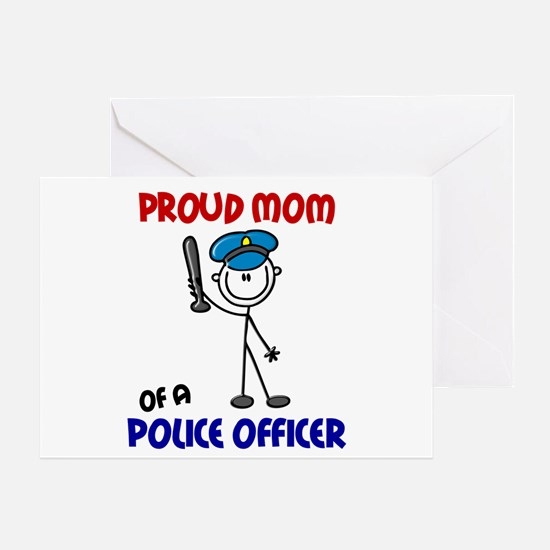 Proud Mom 1 (Police Officer) Greeting Card
