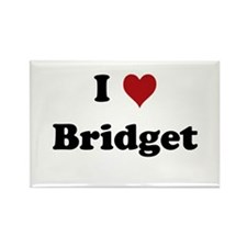 I love Bridget Rectangle Magnet
