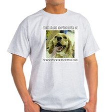 Cocker Spaniel Adoption Center Ash Grey T-Shirt