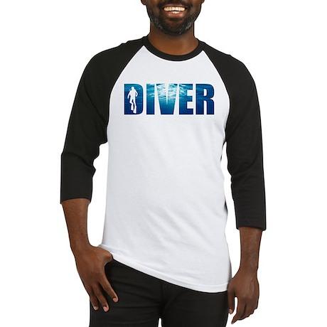 Diver Blue Baseball Jersey