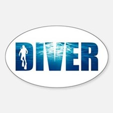 Diver Blue Oval Decal