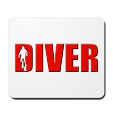 Diver Red Mousepad