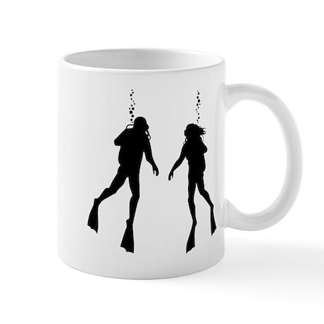 Divers Black Mug