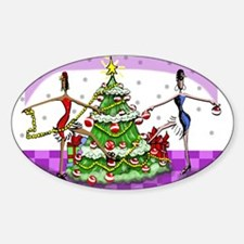 Sophisticated Holidays! Oval Decal