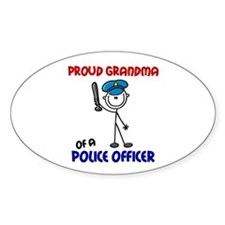 Proud Grandma 1 (Police Officer) Oval Decal
