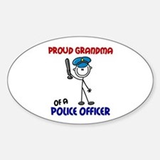 Proud Grandma 1 (Police Officer) Oval Stickers