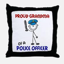Proud Grandma 1 (Police Officer) Throw Pillow