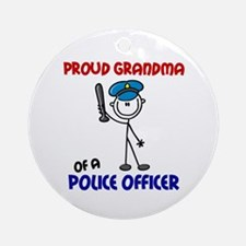 Proud Grandma 1 (Police Officer) Ornament (Round)