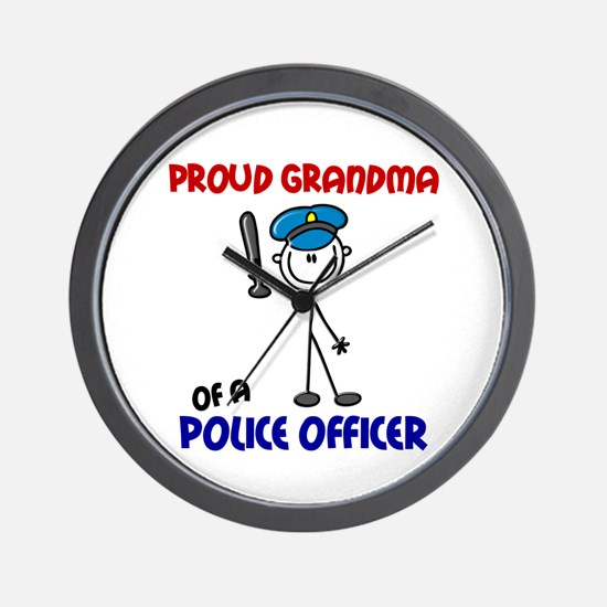 Proud Grandma 1 (Police Officer) Wall Clock