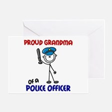 Proud Grandma 1 (Police Officer) Greeting Card