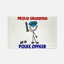Proud Grandma 1 (Police Officer) Rectangle Magnet