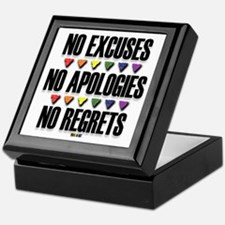 No Excuses, No Apologies, No Regrets Keepsake Box