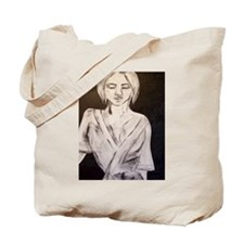 Lady in Black and White Tote Bag