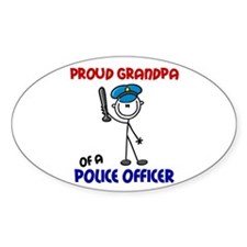 Proud Grandpa 1 (Police Officer) Oval Decal