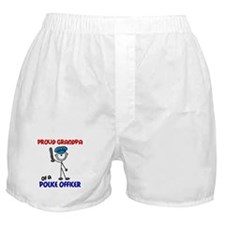 Proud Grandpa 1 (Police Officer) Boxer Shorts