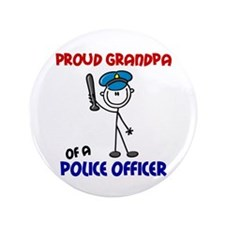 """Proud Grandpa 1 (Police Officer) 3.5"""" Button (100"""
