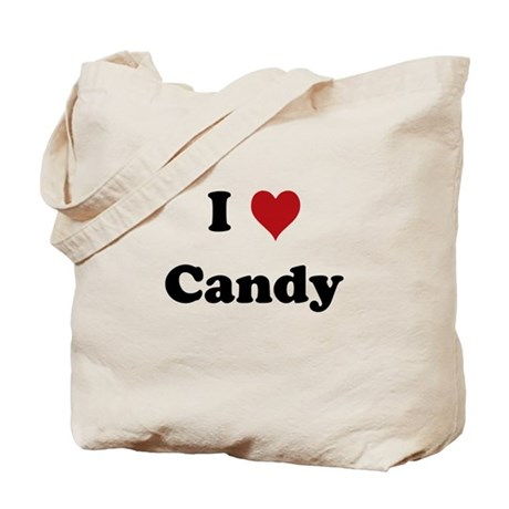 I love Candy Tote Bag