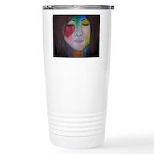 Painted Lady's Face Travel Mug