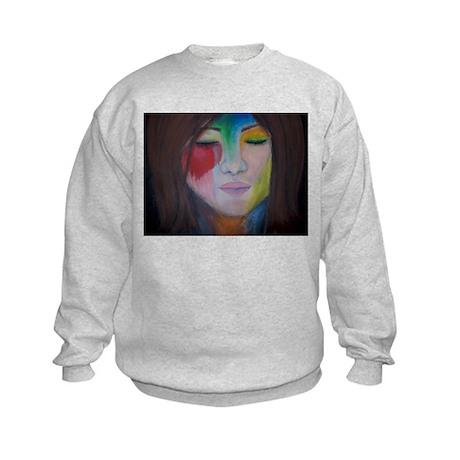 Painted Lady's Face Kids Sweatshirt