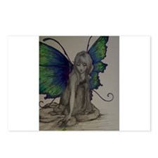 Fairy in Color (Dark) Postcards (Package of 8)