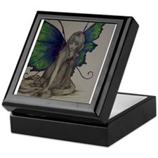 Fairy in Color (Dark) Keepsake Box