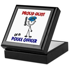 Proud Aunt 1 (Police Officer) Keepsake Box