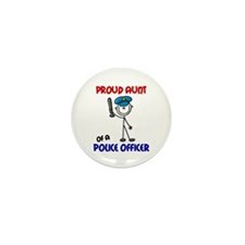 Proud Aunt 1 (Police Officer) Mini Button (10 pack