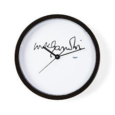 Gandhi signature Wall Clock