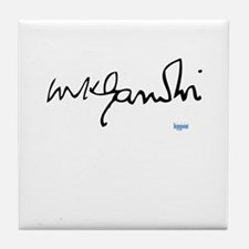Gandhi signature Tile Coaster