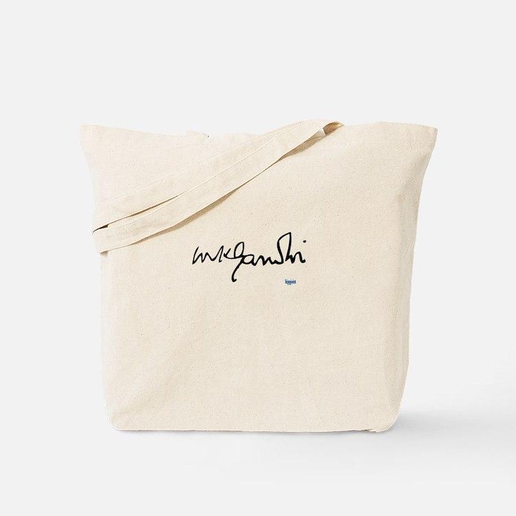 Gandhi signature Tote Bag