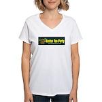 Horizontal Women's V-Neck T-Shirt