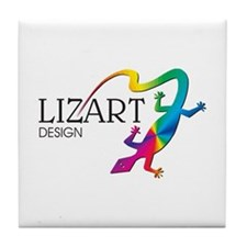 LizArt Design Logo Tile Coaster