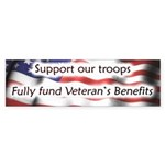 Fully Fund our Veterans Bumper Sticker