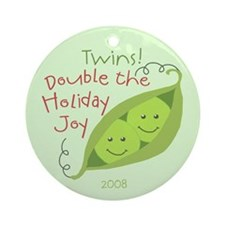 Twins! Double the Holiday Joy 2008 Ornament