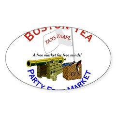 Free Marketeers Oval Decal