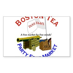 Free Marketeers Rectangle Decal