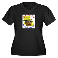 Louisiana Women's Plus Size V-Neck Dark T-Shirt
