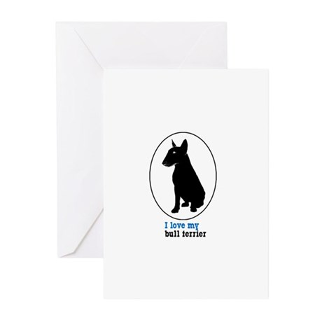 Miniature Bull Terrier Greeting Cards (Pk of 10)
