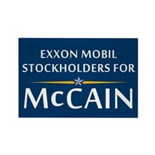 Exxon Mobil McCain Rectangle Magnet