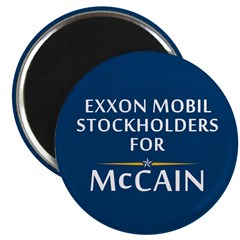 Exxon Mobile McCain Magnet