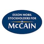 Exxon Mobile McCain Oval Sticker (10 pk)