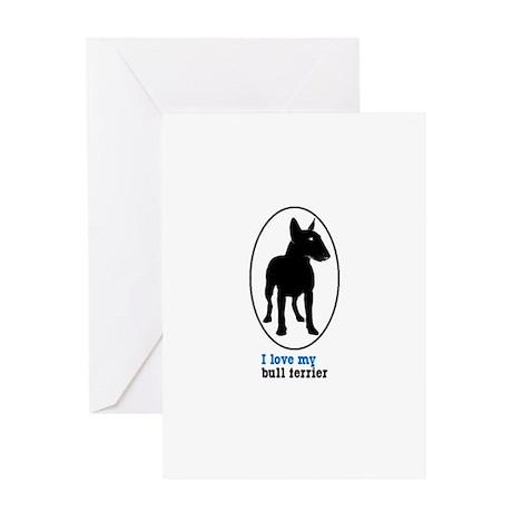 Miniature Bull Terrier Greeting Card