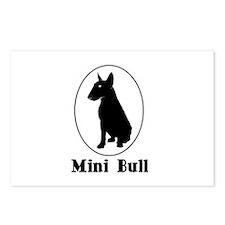Miniature Bull Terrier Postcards (Package of 8)