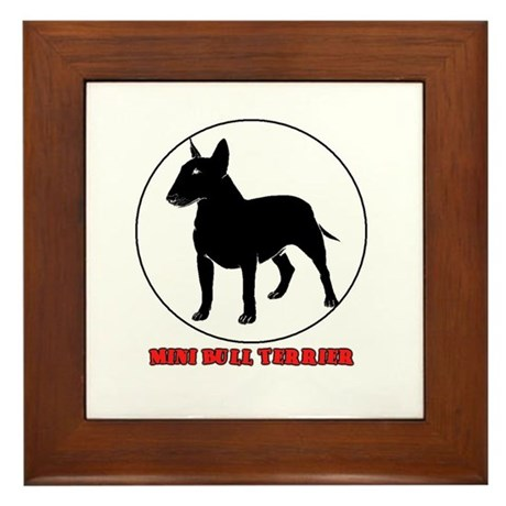 Miniature Bull Terrier Framed Tile