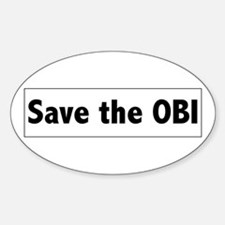 Save the OBI Oval Decal