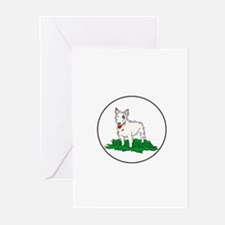 Miniature Bull Terrier Greeting Cards (Pk of 20)