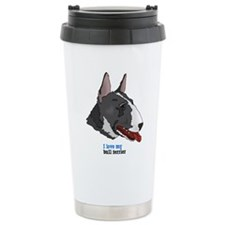 Miniature Bull Terrier Travel Coffee Mug