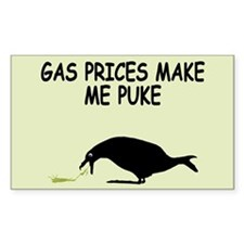 Funny gas prices Decal