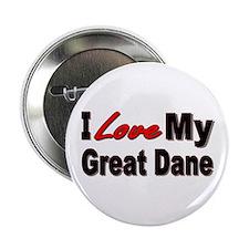 "I Love My Great Dane 2.25"" Button"